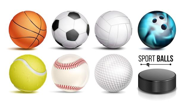 Zestaw piłek sportowych