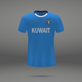 Zestaw piłkarski kuwejtu, szablon koszulki do koszulki piłkarskiej