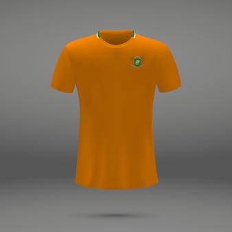 Zestaw piłkarski z ivory coast, szablon koszulki do koszulki piłkarskiej