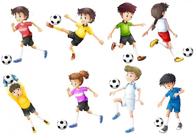 Zestaw piłkarzy