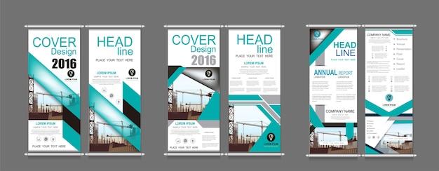 Zestaw pionowy baner projekt szyld reklamy