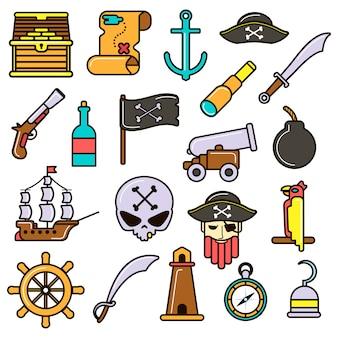 Zestaw piratów.