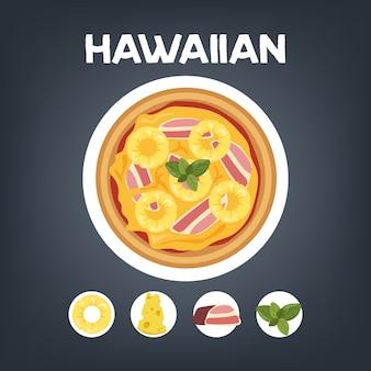 Zestaw pizzy różnych typów. margherita i pepperoni