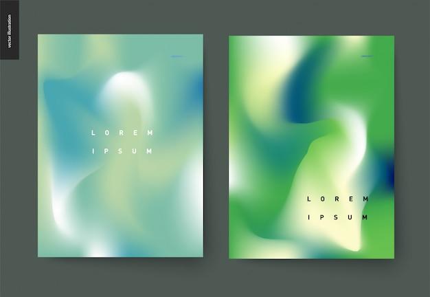 Zestaw plakatów abstrakcyjna tła
