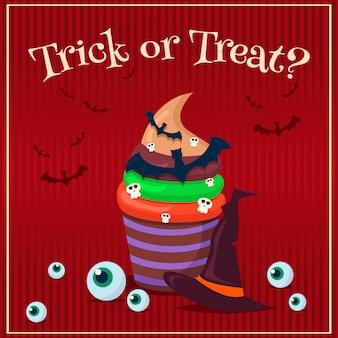 Zestaw plakatów halloween. ilustracja.