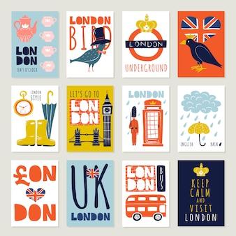 Zestaw plakatów i banerów w londynie