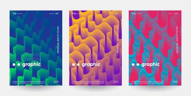 Zestaw plakatów kształtów gradientu. wektor eps10.