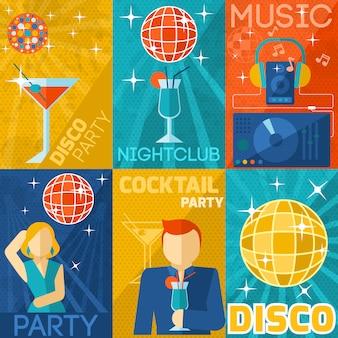Zestaw plakatów night club