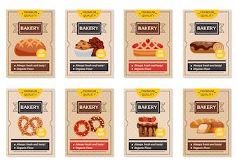 Zestaw plakatów piekarniczych