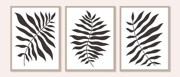 Zestaw plakatów ściennych z motywem botanicznym