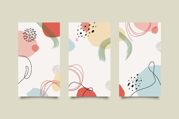 Zestaw plakatów z elementami abstrakcyjnych kształtów i linii