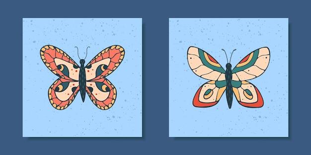 Zestaw plakatów z motylami