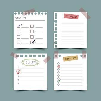 Zestaw planistów i do zrobienia list. planistów, list kontrolnych. odosobniony. ilustracja.