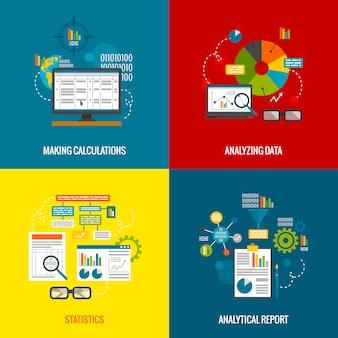 Zestaw płaski analizy danych