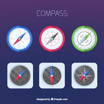 Zestaw płaski kompas