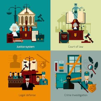 Zestaw płaski prawa