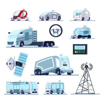 Zestaw płaski tempomat pojazdów autonomicznych