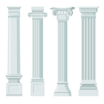 Zestaw płaski vintage klasyczne kolumny