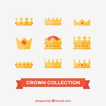 Zestaw płaskich koron