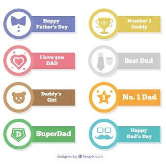 Zestaw płaskich wstążek o różnych kolorach na dzień ojca