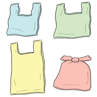 Zestaw plastikowej torby