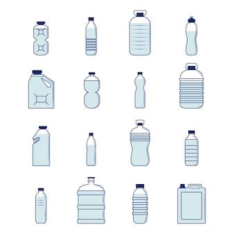 Zestaw plastikowych butelek
