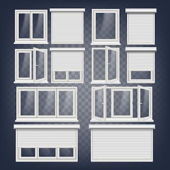 Zestaw plastikowych okien pcv