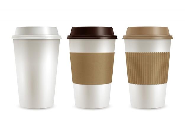 Zestaw plastikowych pokrywek do kawy