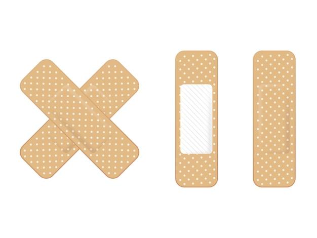 Zestaw plastrów medycznych elastyczny bandaż samoprzylepny