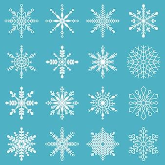Zestaw płatków śniegu.