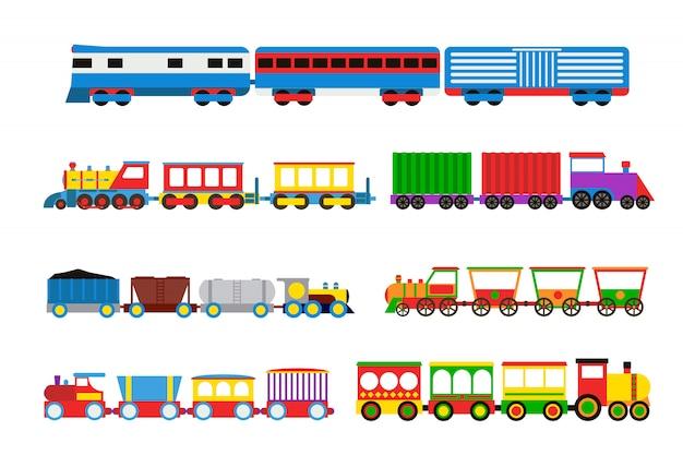 Zestaw pociągów z zabawkami