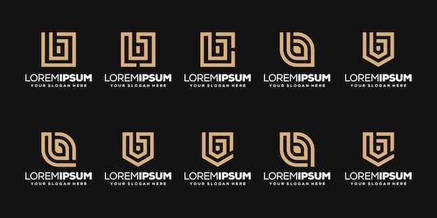 Zestaw początkowego szablonu logo litery b