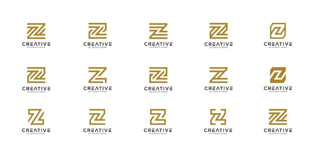 Zestaw początkowego szablonu wektor logo litery z .