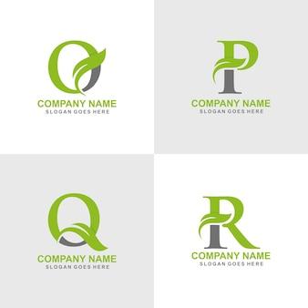 Zestaw początkowych liści logo