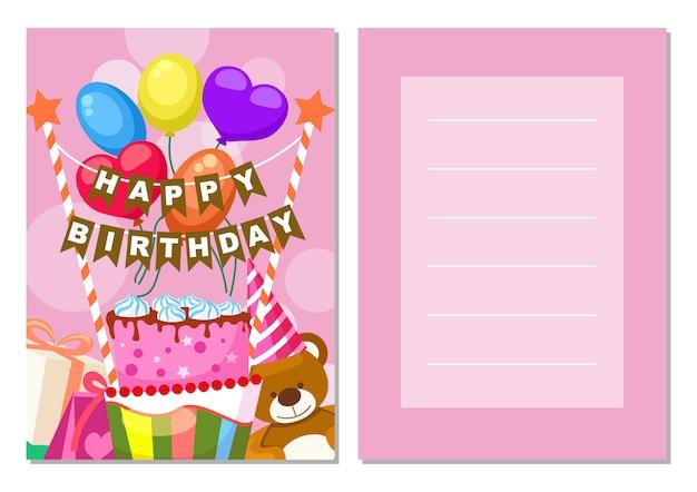 Zestaw pocztówek dla dzieci z okazji urodzin