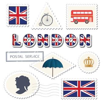 Zestaw pocztowy w londynie