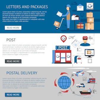Zestaw pocztowych banerów