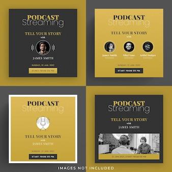Zestaw podcastów w mediach społecznościowych