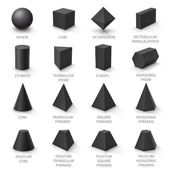 Zestaw podstawowych kształtów 3d