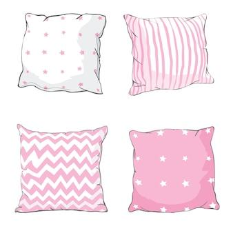 Zestaw poduszek do łóżka