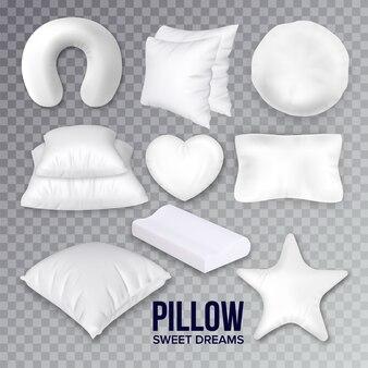 Zestaw poduszek do spania w innej formie