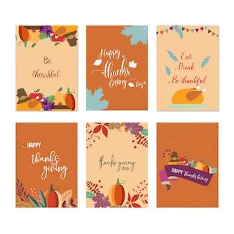 Zestaw podziękowań, dając karty
