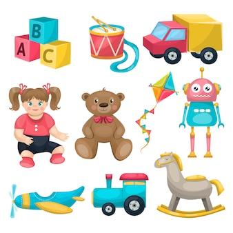 Zestaw pojedynczych zabawek dla dzieci