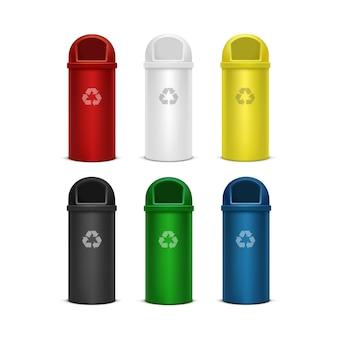Zestaw pojemników na śmieci i śmieci
