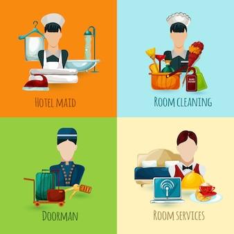 Zestaw pokojów hotelowych