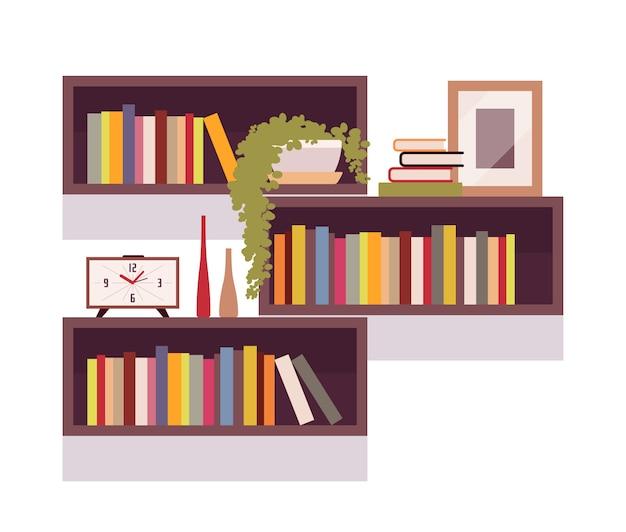 Zestaw półek na książki retro prostokąt