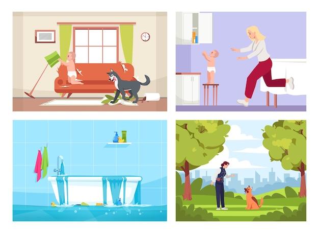 Zestaw półpłaski wystąpień domowych