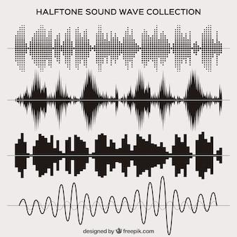 Zestaw półtonów fala dźwiękowa