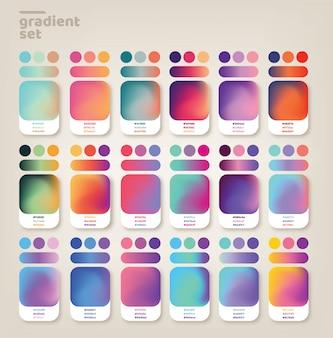 Zestaw pomysłów gradientu