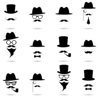 Zestaw portretów dżentelmena